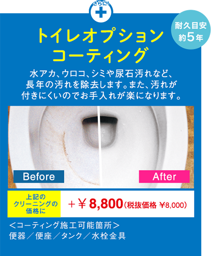 トイレオプションコーティング